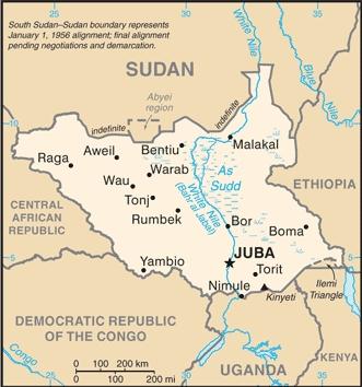 suedsudan map