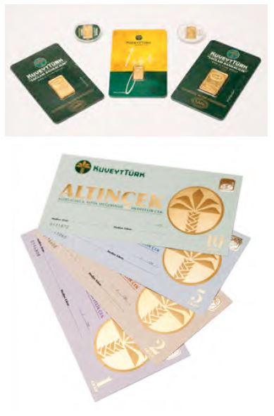 Türkei - Goldbarren und Scheckkarten