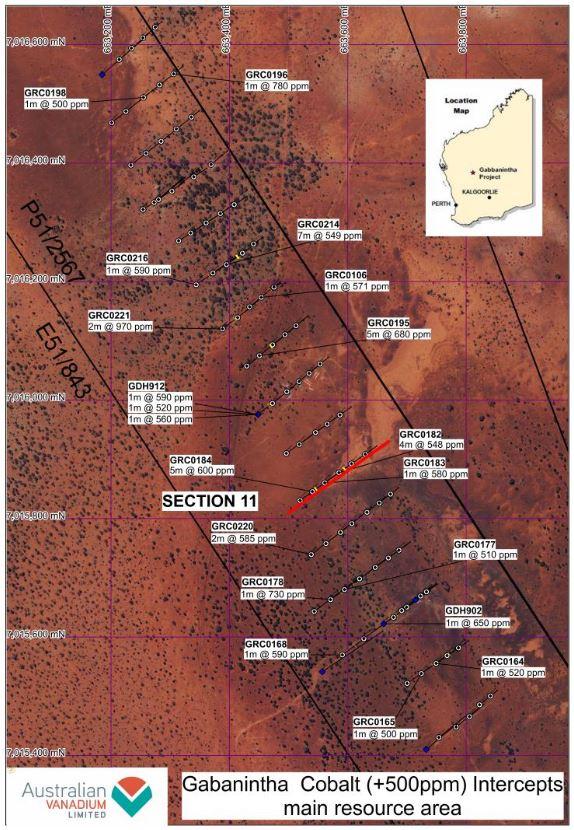 Abb1 Plan der Kobaltfunde