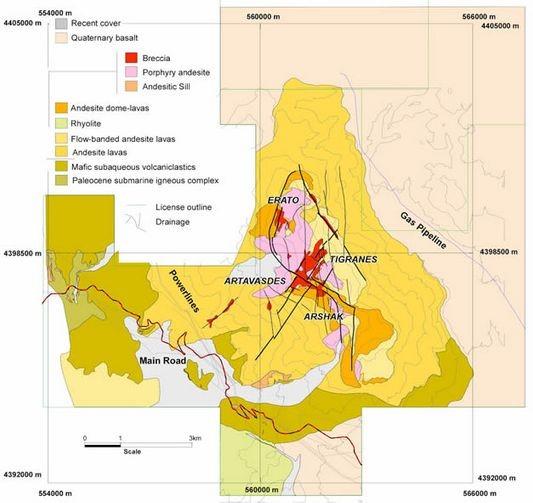 Lydian Geologie